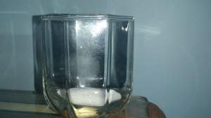 Glass with salt