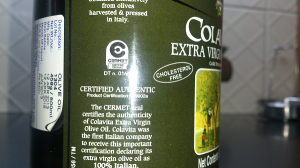 Olive oil certified seal